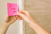 I Love You Note On The Mirror