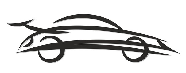 Fototapeta Logo of the fast car.