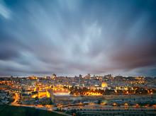 Dramatic Clouds Over Jerusalem Old City, Israel