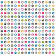 240 shopping icons set, includes money icons, clothes icons, packaging icons, gift box, bags, carts, vector signs collection.