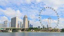 Singapore Cityscape Againt Clo...