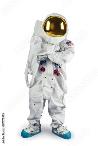 Deurstickers Nasa Astronaut standing on a white background