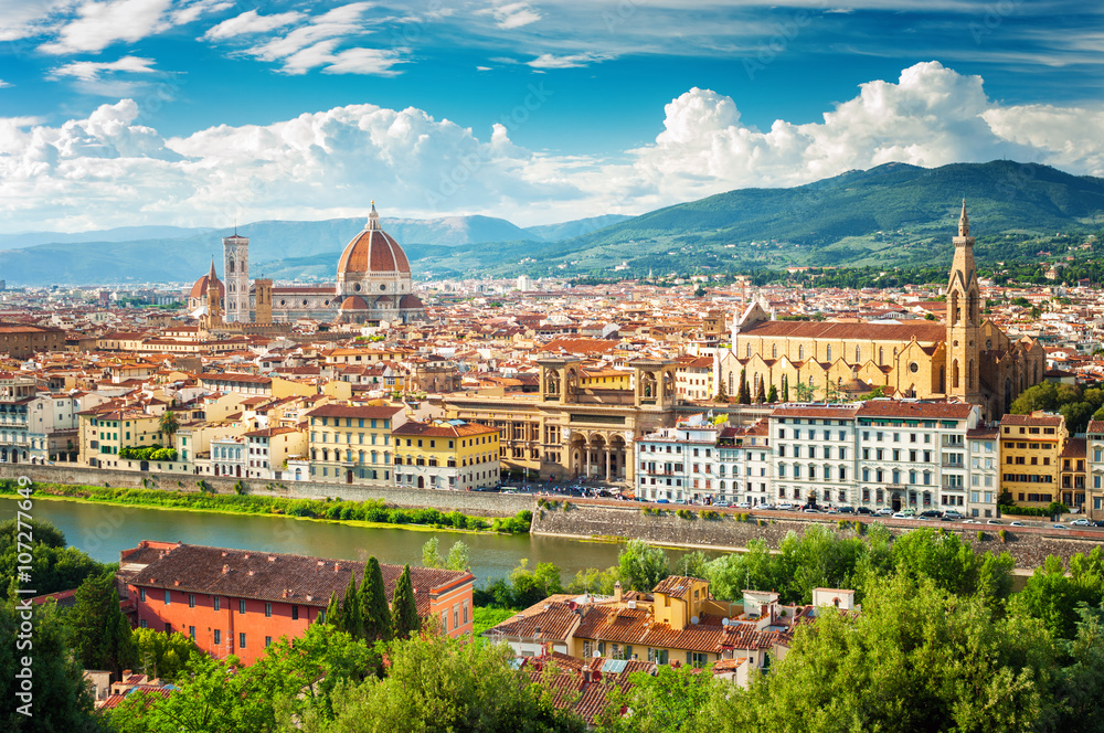 Fototapety, obrazy: Florencja pejzaż miejski, Włochy