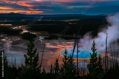 Yellowstone National Park Grand Prizmatic Fototapeta
