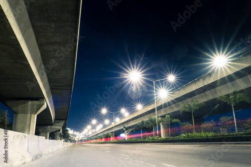 Fotografiet  highway light at night