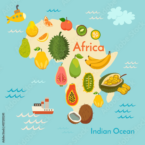 fruit-world-map-africa-vector-illustration-preschool-baby-continents-oceans-drawn-earth
