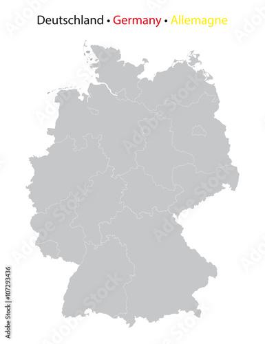 Deutschland Karte Mit Bundeslander Grenzen Detailreich Buy
