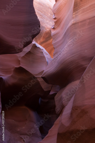 Photo sur Plexiglas Zen pierres a sable Abstraction from Nature, of the Lower Antelope Slot Canyon of Arizona