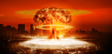 Nuclear Explosion Over A Large City