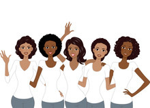 Girls African American White Shirt