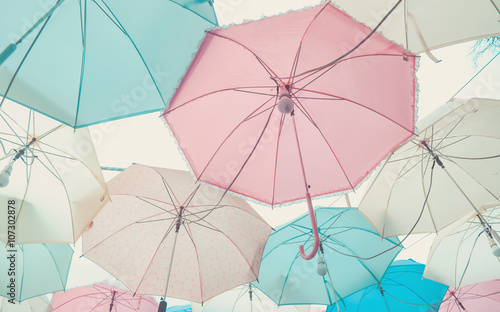 Umbrella pattern pastel Wallpaper Mural