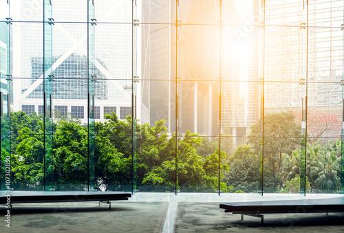 Fototapeta Urban Scene Skyline in Hong Kong obraz na płótnie