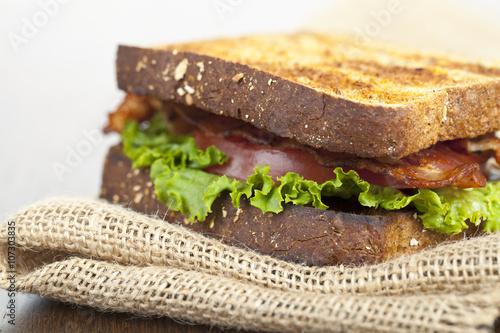Foto op Canvas Snack tasty blt sandwich