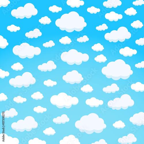 Fototapeta clouds design over sky background vector illustration