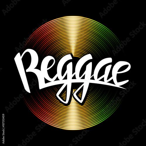 Cuadros en Lienzo Reggae lettering