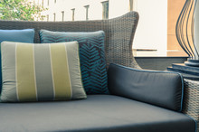 Outdoor Deck With Pillows On S...
