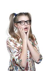 Surprised teen girl..
