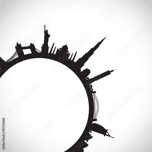 Photo  black world landscape cityscape