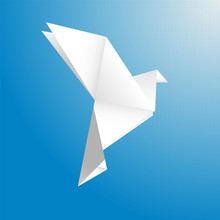 Bird From A Paper Vector