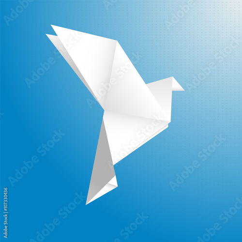 Bird from a paper vector Canvas Print