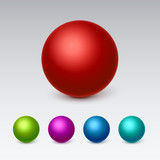 3d Spheres icons set collection. Vector illustration
