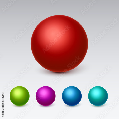 Fotomural 3d Spheres icons set collection. Vector illustration