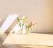 beautiful home flower in vase in room