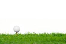 Golf Ball On Green Grass Isola...