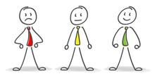 3d Strichmännchen Zeigen Durch Verschiedene Mimiken Ihre Gefühle.Der Gesichtsausdruck Ist Sehr Emotional..Gut, Schlecht, Oder Neutrale Stimmung, Das Ist Hier Die Frage.
