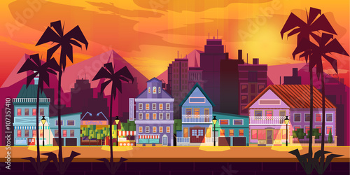 Photo  Night City Game Background  2d game application