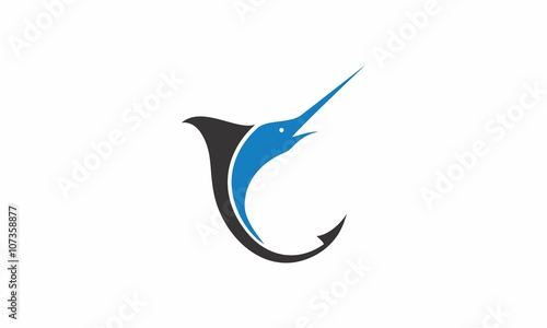 marlin fishing vector Canvas Print