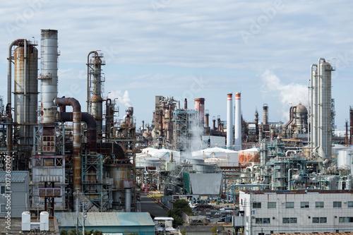 Zakład przemysłowy rafinerii ropy naftowej i gazu
