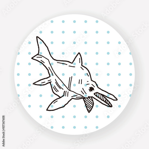 Photo  fish dinosaur doodle