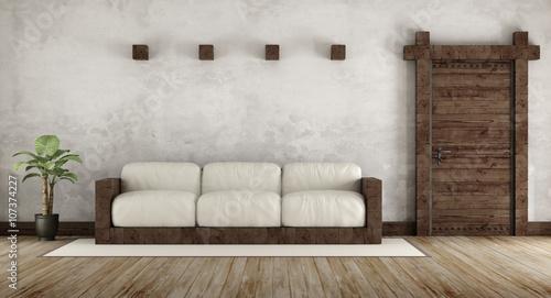 Fotografía  Living room in rustic style