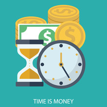 Time Is Money Business Concept...