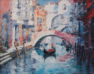 Obraz na Plexi Mosty Art Oil Painting Picture Venice Italy