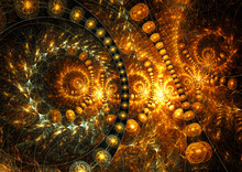 Universe Of Well-being. Abstract Background With Lighting Effect