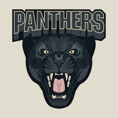 FototapetaAngry Panther Sport team emblem