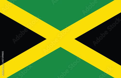 Photographie  Jamaican flag.