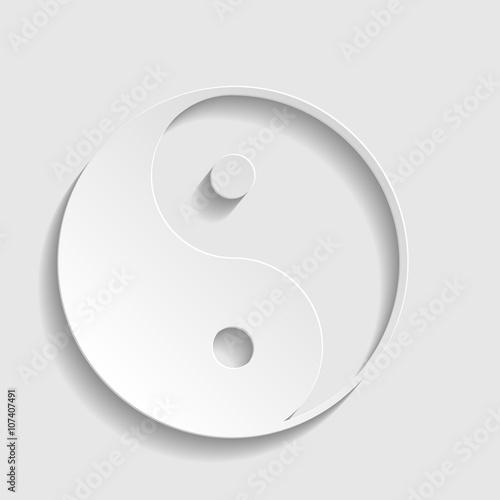 Fotografija  Ying yang symbol of harmony and balance.