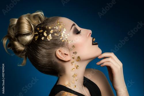 Fotografie, Obraz  Ombre lips glamour make-up (Verena Narnhofer - Modelpage)