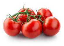 Fresh Tomatoes Isolated On White. With Clipping Path.