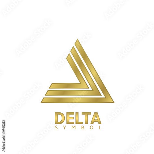 Golden Delta Sign Buy This Stock Vector And Explore Similar