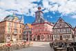Das Alte Rathaus am Marktplatz von Heppenheim an der Bergstraße in Hessen