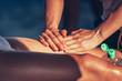 Sports massage in sunlight