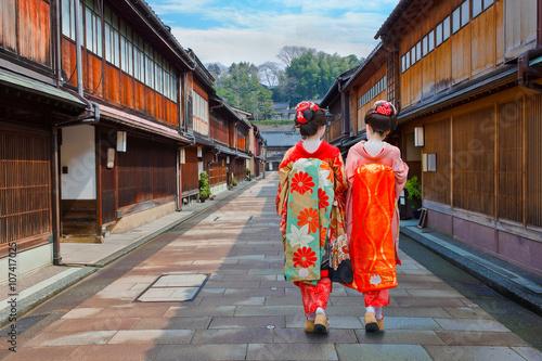 Photo sur Aluminium Kyoto Japanese Geisha at Higashi-Chaya-gai - Geisha District in Kanazawa, Japan