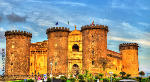 Canvas Prints Napels Castel Nuovo in Naples