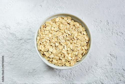 Fotografie, Obraz  Natural oatmeal in a bowl