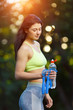 Fitness woman with a skipping rope