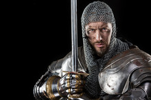 Medieval Warrior With Chain Ma...
